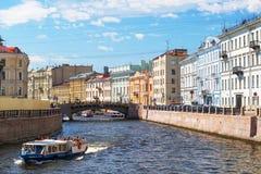 Moyka河在圣彼德堡 免版税库存照片