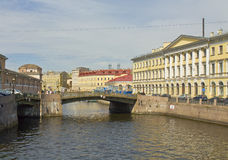 圣彼德堡,桥梁 免版税库存图片