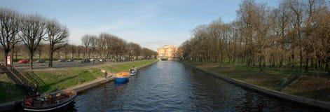 Moyka panorâmico do rio Imagem de Stock