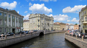 Moyka river in Saint Petersburg, Russia Stock Photos