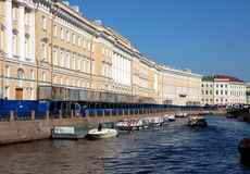 The Moyka River  in Saint-Petersburg. Russia Stock Photography