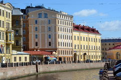 The Moyka River  in Saint-Petersburg. Russia Royalty Free Stock Photography