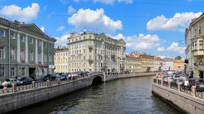 Moyka River in Saint Petersburg, Russia Royalty Free Stock Photography