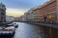 Moyka river. Saint Petersburg. Russia. Royalty Free Stock Image