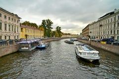Moyka river. Saint Petersburg. Russia. stock photo