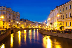 Moyka river, St. Petersburg ,Russia. Evening St. Petersburg ,Moyka river in St. Petersburg Stock Photos