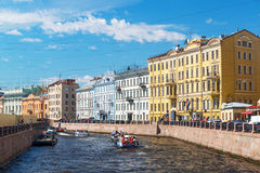 The Moyka River in St. Petersburg Stock Photography