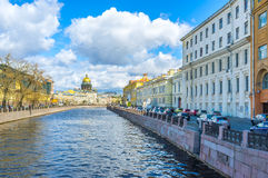 At Moyka River in St Petersburg Royalty Free Stock Image
