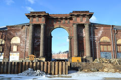 Water Gate of New Holland island at winter. Moyka river. Water Gate of New Holland island at winter. St.Petersburg stock photos