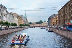 Moyka rzeka w Świątobliwym Petersburg Fotografia Royalty Free