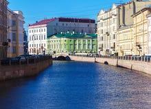 Moyka rzeka w świętym Petersburg, Rosja Fotografia Stock