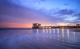 Moyo Pier Durban. Long Exposure Beachfront Moyo Pier Durban Royalty Free Stock Photo