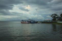 Moyogalpa港口,奥梅特佩岛 库存图片