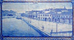 Mozaïek Aveiro Portugal royalty-vrije stock foto