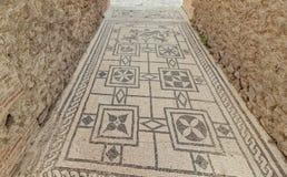 Mozaïek bij ingang aan villa in Pompei Royalty-vrije Stock Foto's