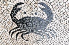 Mozaïek crabe Stock Afbeelding