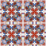 Mozaïek decoratief naadloos patroon Abstract geometrisch ornament Royalty-vrije Stock Afbeeldingen