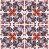 Mozaïek decoratief naadloos patroon Abstract geometrisch ornament Royalty-vrije Stock Afbeeldingen