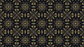Mozaïek in gele en zwarte kleuren stock videobeelden