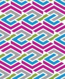 Mozaïek geometrisch naadloos patroon, parallelle lijnen Stock Afbeelding