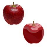 Mozaïek, geometrische appelen Geïsoleerde gemakkelijk zich te wijzigen Stock Foto's