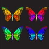 Mozaïek heldere vlinder stock illustratie