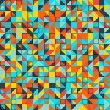 Mozaïek kleurrijke achtergrond van geometrische vormen Stock Fotografie