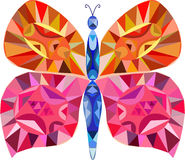 Mozaïek Kleurrijke Vlinder Royalty-vrije Stock Fotografie