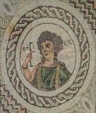 Mozaïek in Kourion, Cyprus Stock Afbeelding