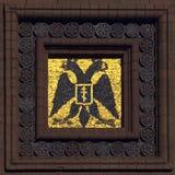 Mozaïek met dubbel-geleide adelaar Stock Afbeeldingen