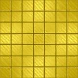 Mozaïek met goud squarres Stock Foto
