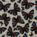 Mozaïek met vlinders Stock Foto