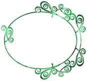 Mozaïek om kader in groene kleur Stock Foto