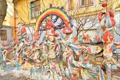 Mozaïek op de muur Stock Afbeeldingen