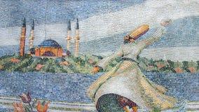 Mozaïek op de oude fontein in Istanboel Stock Foto's