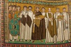 Mozaïek in San Vitale royalty-vrije stock foto