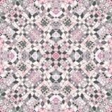 Mozaïek symmetrisch patroon stock illustratie