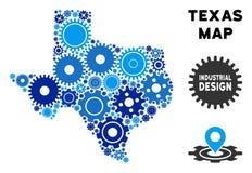 Mozaïek Texas Map van Toestellen royalty-vrije illustratie