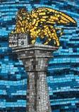 Mozaïek van de leeuw van het Teken van Heilige op de muur Stock Foto's