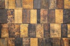 Mozaïek van grunge houten blokken royalty-vrije stock foto