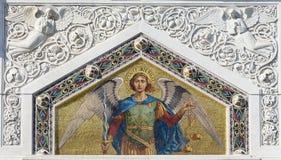 Mozaïek van Heilige Michael Royalty-vrije Stock Afbeeldingen