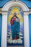 Mozaïek van Jesus Christ bij kerk Stock Foto