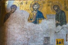 Mozaïek van Jesus Christ in Hagia Sophia, Ayasofya stock fotografie
