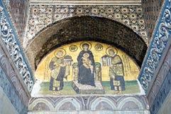 Mozaïek van Jesus-Christus in kerk van Hagia Sofia Royalty-vrije Stock Afbeelding