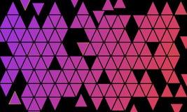 Mozaïek van Kleurrijke Driehoeksvormen - Behangillustratie vector illustratie