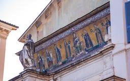 Mozaïek van Maagdelijke Mary met de zuigeling Jesus royalty-vrije stock afbeeldingen