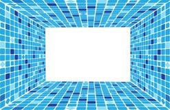 Mozaïek van vierkanten in perspectief Royalty-vrije Stock Foto's