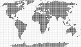 Mozaïek van wereldkaart Stock Afbeeldingen
