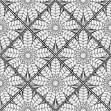 Mozaïek Zwart-wit Patroon van Lotus2 Royalty-vrije Stock Foto