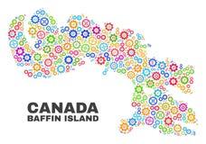 Mozaïekbaffin Eilandkaart van Toestelpunten vector illustratie